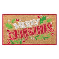 Zerbino Merry Xmas in cocco multicolore
