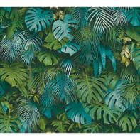 Carta da parati Greenery Jungla azzurro, 53 cm x 10.05 m