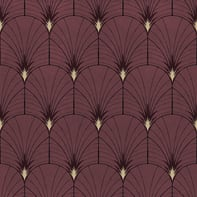 Carta da parati Essentials Art Deco rosso, 53 cm x 10.05 m
