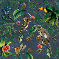 Carta da parati Essentials Animals blu