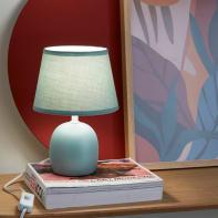 Lampada da comodino Shabby Poki verde , in ceramica, INSPIRE