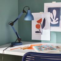 Lampada da scrivania Pop Ennis blu , in metallo, INSPIRE