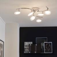 Plafoniera moderno Loob LED integrato cromo, in ferro,  D. 69.4 cm 69.4x66 cm, 6  luci INSPIRE