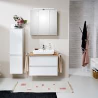 Set mobile da bagno con lavabo Balu bianco e rovere naturale L 75 cm