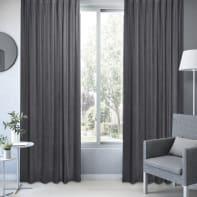 Tenda INSPIRE Dubbo grigio scuro occhielli 140 x 280 cm