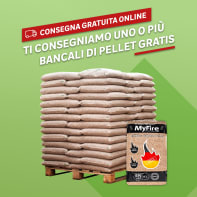 Pellet ExtraWhite ENplus A1 66 sacchi da 15 kg in abete