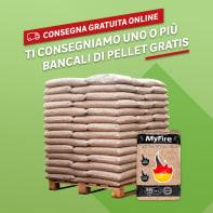 Pellet MyFire ExtraWhite ENplus A1 66 sacchi da 15 kg in abete