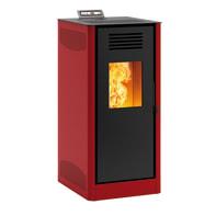 Stufa a pellet ventilata Mirano 8 8 kW rosso