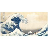 Quadro su tela Hokusai La Grande Onda di Kanagawa 145x75 cm