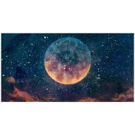 Quadro su tela Luna piena 145x75 cm