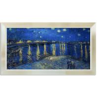 Stampa incorniciata Van Gogh Notte Stellata sul Rodano 136x76 cm