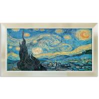 Stampa incorniciata Van Gogh La Notte Stellata 136x76 cm