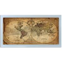 Stampa incorniciata Old map 136x76 cm
