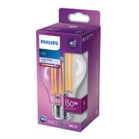 Lampadina LED, LEDGOC150CWP, E27, Globo, Trasparente, Luce naturale, 17W=2452LM (equiv 150 W), 200° , PHILIPS