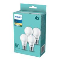 Set di 4  lampadine LED, E27, Goccia, Opaco, Luce calda, 8W=806LM (equiv 60 W), 200° , PHILIPS