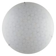 Plafoniera Esagram bianco, in vetro, 4  luci