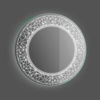 Specchio con illuminazione integrata bagno rotondo Planet L 70 x H 70 cm