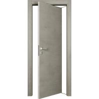 Porta rototraslante Beton cemento L 70 x H 210 cm reversibile