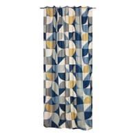 Tenda Oliver multicolor fettuccia con passanti nascosti 140 x 280 cm