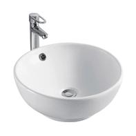 Lavabo da appoggio rotondo Olga in ceramica Ø 40 x H 15 cm bianco