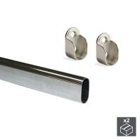 Tubo appendiabiti 950 mm grigio / argento