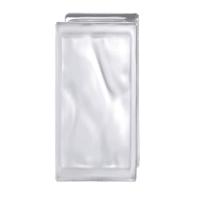 Vetromattone trasparente satinato H 19 x L 9 x Sp 8 cm 6 pezzi