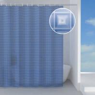Tenda doccia in peva azzurro L 180 x H 200 cm