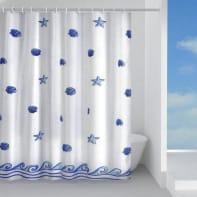 Tenda doccia in poliestere blu L 180 x H 200 cm