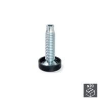 Piedi regolabili EMUCA acciaio grigio zincato Ø 23 mm x H 6.1 cm 20 pezzi