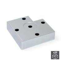 Set piedini EMUCA plastica grigio satinato  L 80 mm x P 80 mm  H 3 cm 20 pezzi