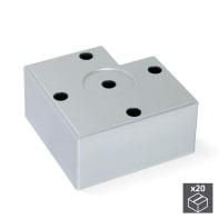 Set piedini EMUCA plastica grigio verniciato  L 80 mm x P 80 mm  H 1.5 cm 20 pezzi