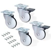 Rotella per mobili EMUCA Slip in plastica grigio Ø 50 cm 4 pezzi