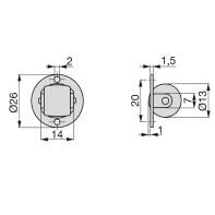 Rotella per mobili EMUCA in acciaio Ø 13 cm 20 pezzi