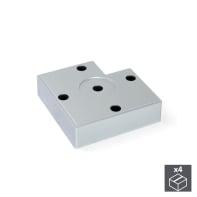 Piedi fissi EMUCA plastica grigio verniciato  H 1.5 cm 4 pezzi