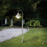 Lampione Sidney H120cm in acciaio, argento, E27 1xMAX60W IP44 EGLO