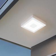 Plafoniera Iphias bianco LED integrato in alluminio, bianco, 16.5W 1700LM IP44 EGLO