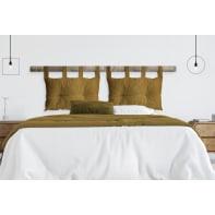 Cuscino testata letto ILIZIA senape 45x70 cm