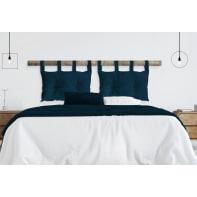 Cuscino testata letto VIKI blu 45x70 cm