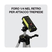 Misuratore laser classe 2 METRICA FLASH distanza max 60 m