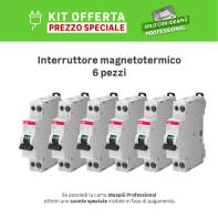 Kit Interruttore magnetotermico ABB SN201 L C10 1P +N 10A 4.5kA C 1 modulo 230V, 6 pezzi