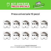 Kit Presa BTICINO Living light 16 A bianco, 10 pezzi