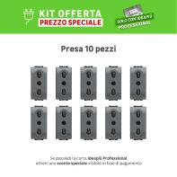 Kit Presa BTICINO 16 A nero, 10 pezzi