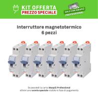 Kit Interruttore magnetotermico GEWISS GW90027DY 1P +N 16A 4.5kA C 1 modulo 230V, 6 pezzi