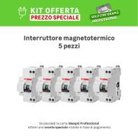 Kit Interruttore magnetotermico differenziale ABB KIT DS 901 L C16 30mA / AC 1 polo 16A 4.5kA 30mA AC 2 moduli 230V, 5 pezzi