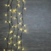 Catena luminosa 480 lampadine LED bianco caldo 400 cm