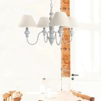 Lampadario Romantic Charm Romance beige, grigio in metallo, D. 70 cm, 4 luci, SEYNAVE