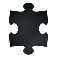 Lavagna per gesso FB-PUZZLE nero 40x30 cm