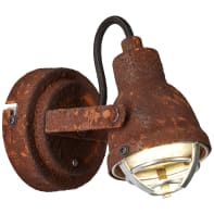Faretto a muro Bente GU10 w/o bulb WA ruggine, in metallo, GU10 IP20 BRILLIANT
