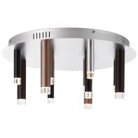Plafoniera Cembalo LED 12x4W DE 12 rund LED integrato marrone e bronzo e cromo, in metallo,  D. 50.5 cm 12  luci BRILLIANT