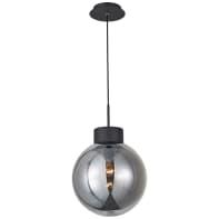 Lampadario Moderno Astro nero e fumè in metallo, D. 30 cm, BRILLIANT